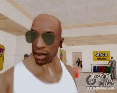Green sunglasses Aviators for GTA San Andreas second screenshot
