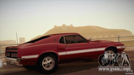 Shelby GT500 428 Cobra Jet 1969 for GTA San Andreas left view