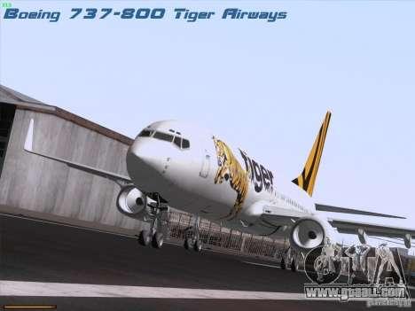 Boeing 737-800 Tiger Airways for GTA San Andreas
