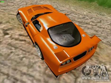 Dodge Viper GTS-R Concept for GTA San Andreas inner view