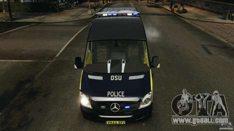 Mercedes-Benz Sprinter Police [ELS] for GTA 4 bottom view