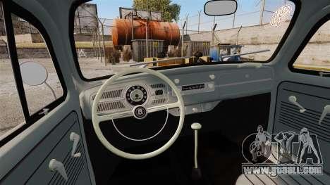 Volkswagen Fusca Edit for GTA 4 inner view