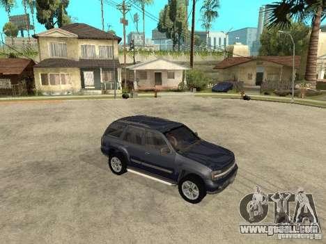 Chevrolet TrailBlazer 2003 for GTA San Andreas back view