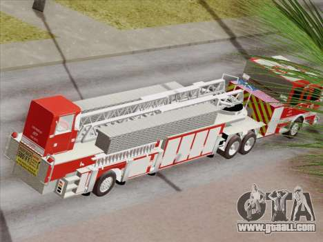 Pierce Arrow XT LAFD Tiller Ladder Truck 10 for GTA San Andreas wheels