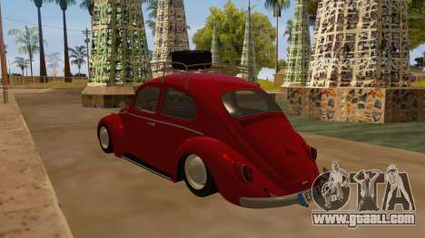VW Beetle 1966 for GTA San Andreas back left view