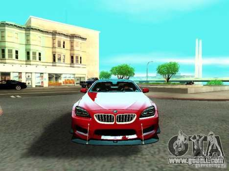 BMW M6 2013 for GTA San Andreas upper view