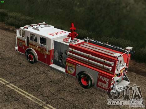 Seagrave Marauder II Engine 62 SFFD for GTA San Andreas side view