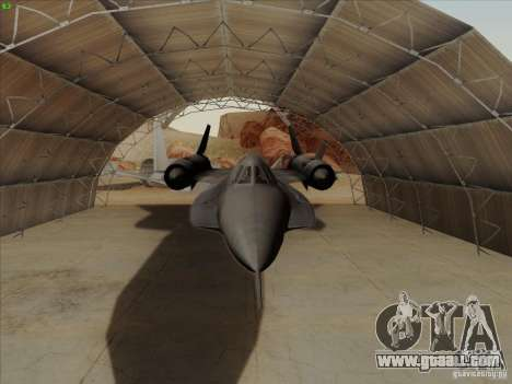 YF-12A for GTA San Andreas inner view