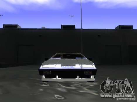 Lotus Esprit Turbo for GTA San Andreas back view