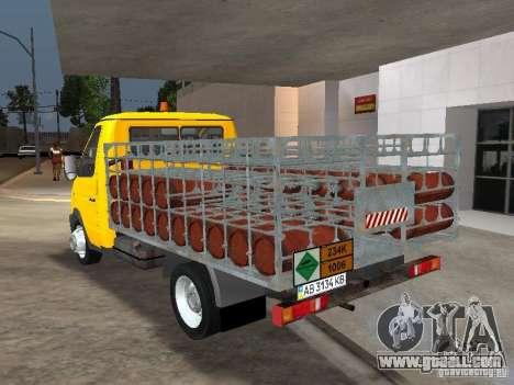 GAZ 3302 Balonovoz for GTA San Andreas back left view