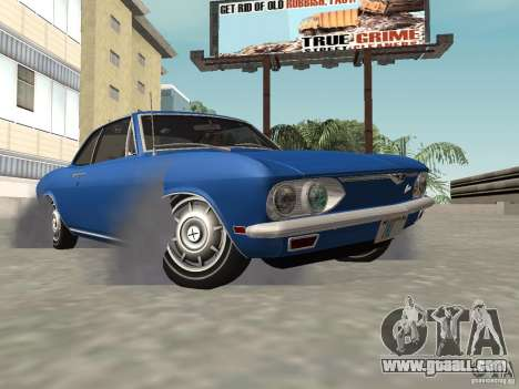 Chevrolet Corvair Monza 1969 for GTA San Andreas inner view