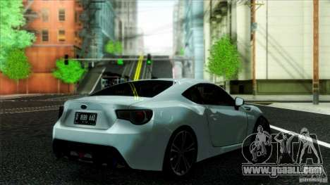 Subaru BRZ v2 for GTA San Andreas left view
