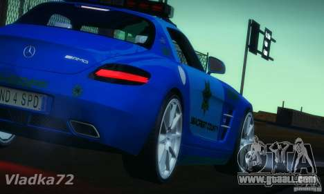 Mercedes-Benz SLS AMG Blue SCPD for GTA San Andreas left view