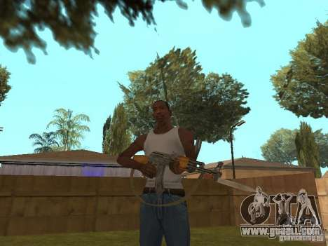 AK 47 with a bayonet-knife HD for GTA San Andreas third screenshot