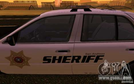 Ford Crown Victoria Police for GTA San Andreas inner view