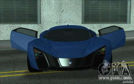 Marussia B2 2010 for GTA San Andreas inner view