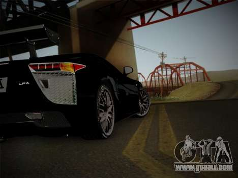 Lexus LFA Nürburgring Edition for GTA San Andreas back view
