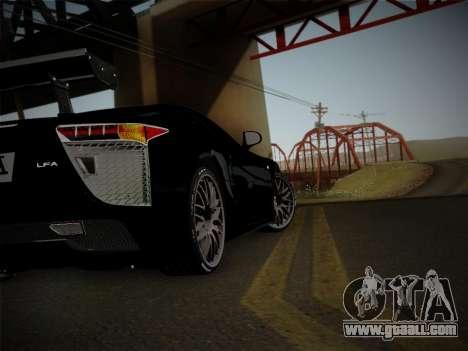 Lexus LFA Nürburgring Edition for GTA San Andreas back view