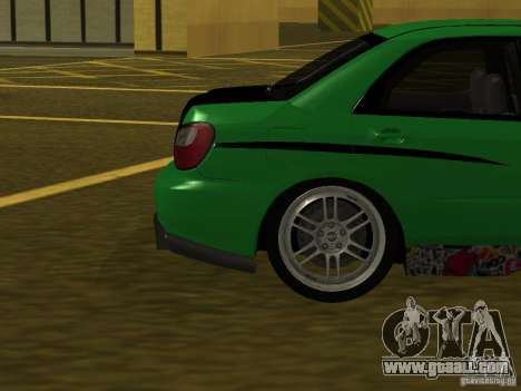 Subaru Impreza WRX for GTA San Andreas side view