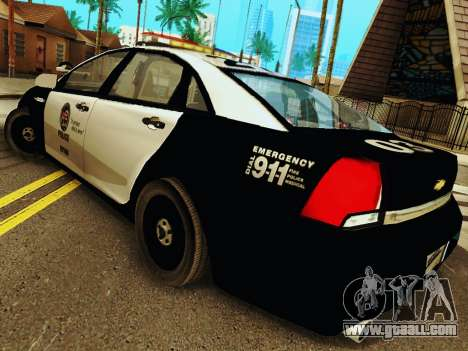 Chevrolet Caprice 2011 Police for GTA San Andreas back left view