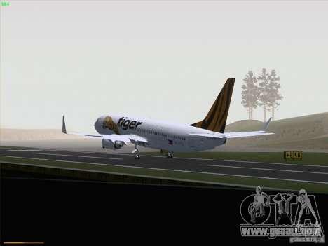 Boeing 737-800 Tiger Airways for GTA San Andreas inner view