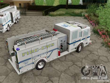 Pierce Pumpers. B.C.F.D. FIRE-EMS for GTA San Andreas interior