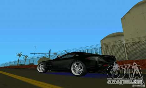 Mercedes-Benz SLR McLaren 722 Black Revel for GTA Vice City back left view