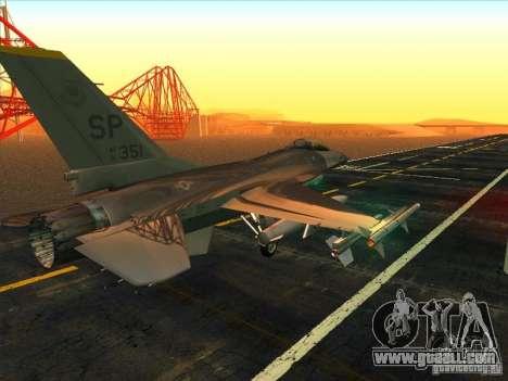 F-16C Fighting Falcon for GTA San Andreas right view