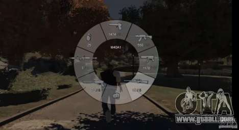 GTA 5 Weapon Wheel HUD for GTA 4 forth screenshot