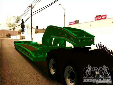 Trailer Iveco Eurotech for GTA San Andreas left view