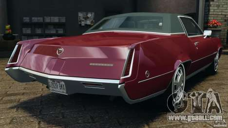 Cadillac Eldorado 1968 for GTA 4 back left view