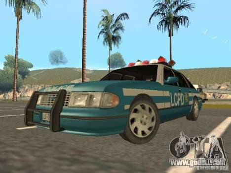 HD Police from GTA 3 for GTA San Andreas left view