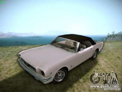 Ford Mustang Convertible 1964 for GTA San Andreas back view
