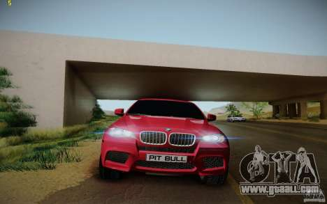 BMW X6 v1.1 for GTA San Andreas inner view