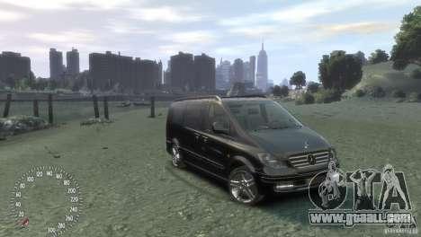 Mercedes-Benz Vito 2013 for GTA 4 left view