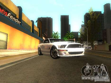 Ford Shelby GT 2008 for GTA San Andreas back view
