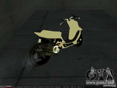 Yamaha Aerox for GTA San Andreas upper view