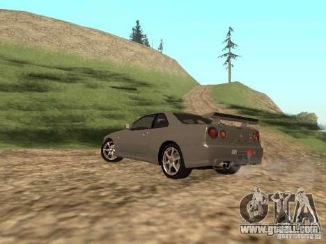 Nissan Skyline GTR R34 for GTA San Andreas left view