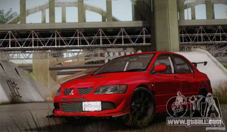 Mitsubishi Lancer Evolution VIII MR Edition for GTA San Andreas side view