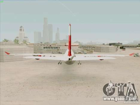 Airbus A-340-600 Plummet for GTA San Andreas back left view