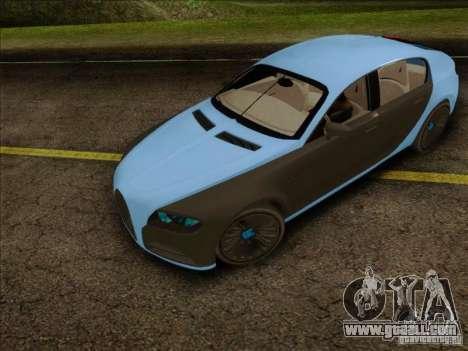 Bugatti Galibier 16c for GTA San Andreas back left view