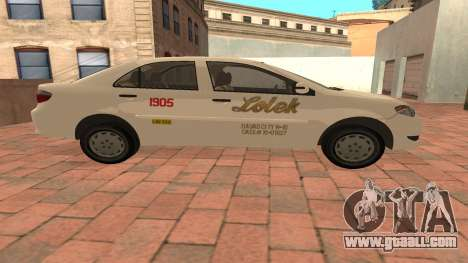 Toyota Corolla - LOLEK TAXI for GTA San Andreas left view