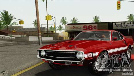 Shelby GT500 428 Cobra Jet 1969 for GTA San Andreas back view