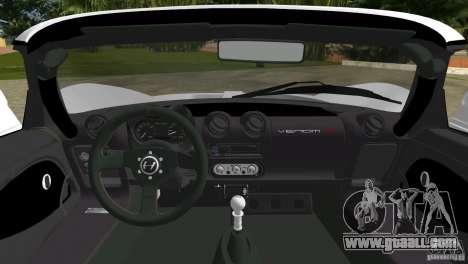 Hennessey Venom GT Spyder for GTA Vice City back view