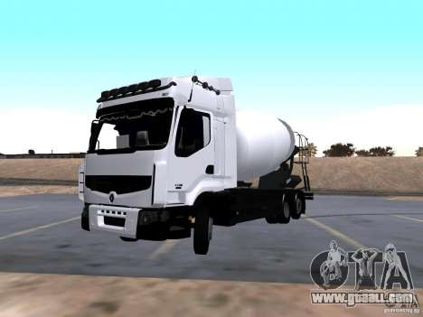 Renault Premium Mixer for GTA San Andreas