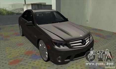 Mercedes-Benz C63 Dub for GTA San Andreas left view