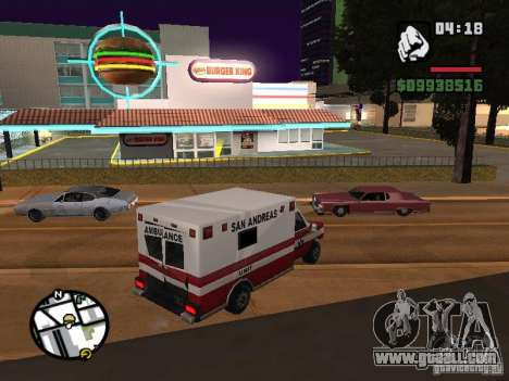 New textures eateries for GTA San Andreas