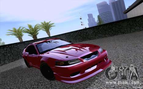 Ford Mustang SVT Cobra 2003 Black wheels for GTA San Andreas left view