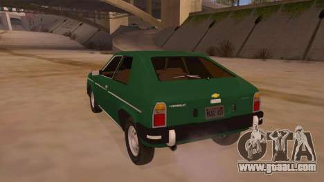 Chevrolet Chevette 1976 for GTA San Andreas back left view