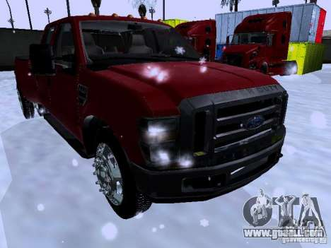 Ford F-350 Super Duty for GTA San Andreas left view